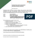 (21/03/19) Pengumuman Hasil Seleksi Administrasi Appraisal Assistant