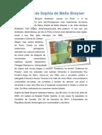 Biografia de Sophia de Mello Breyner