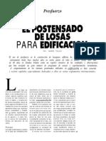 Velasco  Articulo El Postensado de Losas Para Edificacion
