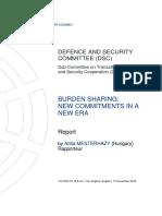 2018 - Burden Sharing New Commitments in a New Era - Mesterhazy Report - 170 Dsctc 18 e Rev1 Fin
