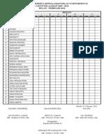 Daftar Hadir Pend Ala Man Kelas Vi a Dan b