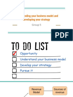 Understanding Your Business Model and Developing Your Strategy