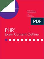 Phr Exam Content Outline