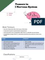Tumors in CNS