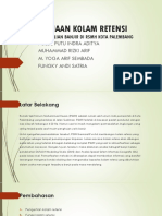 Analisis Kolam Retensi