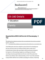 Required Info to Fill DS-160 Form for US Visa Stamping - 5 Tips
