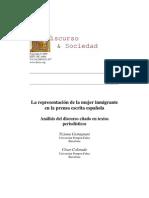 Cast Agn Ani T. Colorado C. (2009) La Representacion de La Mujer Inmigrante en La Prensa Escrita Espanola. Analisis Del Discurso Citado en Textos Period is Ti Cos