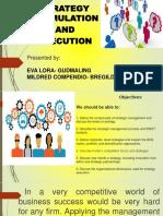 Strategy Formulation & Execution