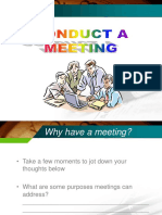 Meeting - Conducting Meeting