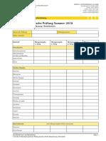Prüfungsunterlagen - Koch - Köchin - Gesamtrohstoffzusammenfassung Bestellschein - Sommer