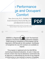 high performance buildings and occupant comfort oc 2019
