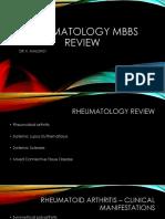 Rheumatology MBBS Review