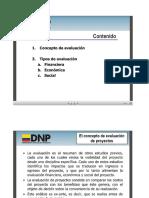 Evaluación presentación DNP
