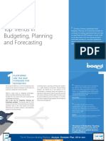 Top Trends in Budgeting Planning and Forecasting 2019
