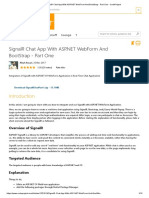 SignalR Chat App With ASP.net WebForm and BootStrap - Part One - CodeProject