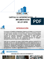 CAPITULO VI - INTERPRETACIÓN E IMPLEMENTACIÓN DEL SGSST - LEY 29783.pdf