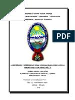 ENSEÑANZA -  APRENDIZAJE DE LA LENGUA AYMARA COMO L2 EN LA UNIDAD EDUCATIVA ANDRES BELLO.pdf