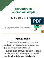 ESTRUCTURA DE UNA ORACIÓN CLASE No. 1.ppt