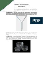 Material de Laboratorio Cristaleria