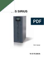Sirius 10-20kva User Manual