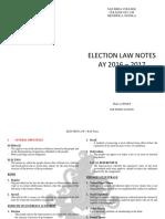 Election RAP Notes