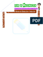 Ejercicios de Método de Deducción e Inducción Para Segundo de Secundaria