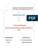 Issues and Challenges due to Commercialization of Higher Education.docx