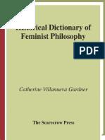 Copia de Catherine Villanueva - Historical dictionary of feminist philosophy.pdf