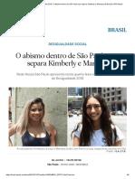 Mapa Da Desigualdade 2018_ O Abismo Dentro de São Paulo Que Separa Kimberly e Mariana _ Brasil _ EL PAÍS Brasil