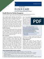 Health Risks for Family Caregivers