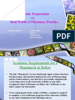 Academic Pep a Ration vs Real World of Pharmacy Practice 2222