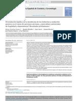 Peroxidación Lipídica en La Membrana de Los Linfocitos y Oxidación