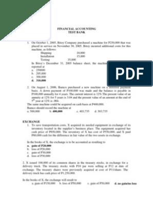 Financial Accounting Testbank | Bonds (Finance) | Goodwill