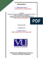 Dissertation Proposal (Asif)