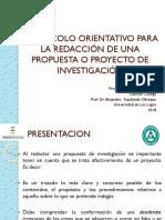 Protocolo para realización de proyectos de tesis