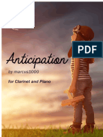 Anticipation (2019) for Bb Clarinet and Piano