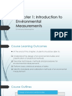 Chapter 1- Introduction to Environmental Measurement