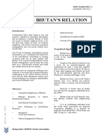 India-Bhutan Relations Assignment of India's Foreign Policy Reshop Sahu