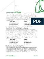 Basic Article Usage