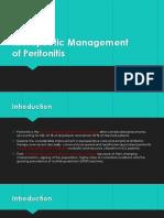 164201_Therapeutic Management of Peritonitis