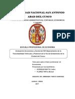 Evaluación Económica y Social del PIP Mejoramiento de la Transitabilidad Vehicular y Peatonal de la Vía de Evitamiento de la Ciudad del Cusco.pdf