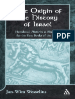 (Journal for the Study of the Old Testament Supplement Series 345) Jan-Wim Wesselius - Origin of the History of Israel_ Herodotus' Histories as Blueprint for the First Books of the Bible-Sheffield Aca.pdf