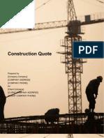 construction Quotation