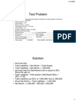Test case Balance sheet