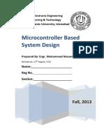 1-Microcontroller Based System Design - Complete.docx