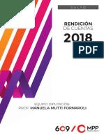 Rendición de cuentas 2018 Prof. Manuela Mutti Fornaroli