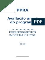 Exemplo de Análise Global de PPRA de Construtora
