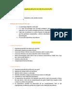 Preparação para a frequência dE pSICOLOGIA DA eDUCAÇÃO.docx