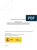 Propuesta de Políticas e Intervenciones para reducir las Desigualdades Sociales en Salud en España
