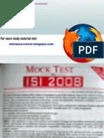 Isi Mock Test